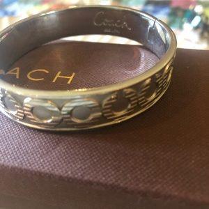"Coach silver ""c"" bracelet"
